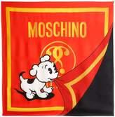 Moschino Logo Printed Silk Scarf