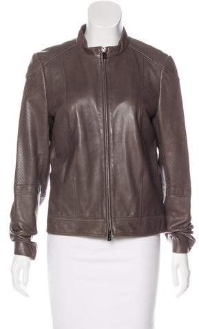 Tory Burch Perforated Leather Jacket