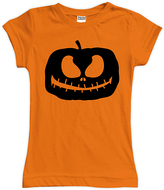 Urban Smalls Black & Orange Jack O'Lantern Fitted Tee - Toddler & Girls