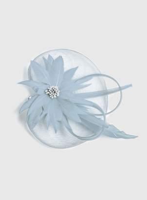 Dorothy Perkins Womens Blue Feather Flower Mesh Fascinator, Blue