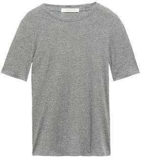 Rag & Bone Kari Melange Ribbed Cotton And Modal-blend T-shirt