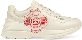 Gucci Women's disk Rhyton sneaker