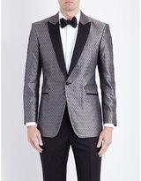 Turnbull & Asser Turnbull & Asser Geometric Regular-fit Silk Jacket