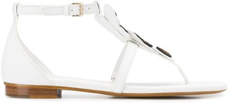 MICHAEL Michael Kors butterfly appliqué thong sandals