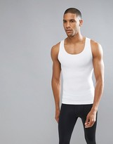 Spanx Performance Singlet Zoned Hard Core In White