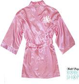 Etsy Personalized Junior bridesmaid Satin Robe with Monogram, Childrens satin robe with monogram, kids mo