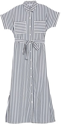 FAVLUX Stripe Print Shirt Dress