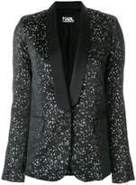 Karl Lagerfeld jacquard tuxedo blazer