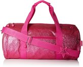 Bixbee Girl's Sparkalicious Glitter Duffle Bag, Ruby , Small, Pink