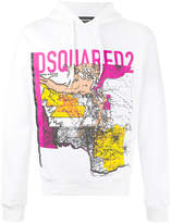 DSQUARED2 map print hooded sweatshirt