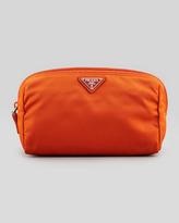 Prada Medium Nylon Cosmetics Bag, Papaya Orange