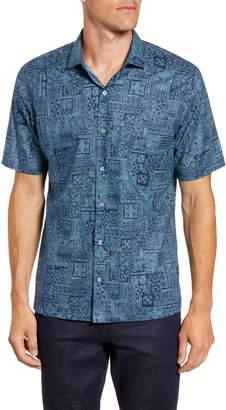 Tori Richard Tessera Regular Fit Short Sleeve Button-Up Shirt