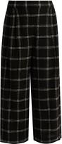 Tibi Checked wide-leg wool-blend culottes