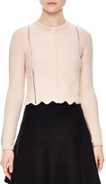 Sandro Diane Scalloped-Hem Cardigan