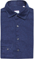 SLOWEAR Regular-fit floral-print brushed cotton shirt