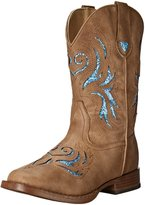 Roper Girls Kids Glitter Breeze Wide Square Toe Western Boot