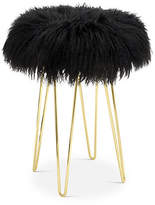 Le-Coterie Curly Hairpin Counter Stool - Gold/Black