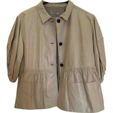 Miu Miu Beige Leather Jacket for Women