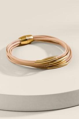 francesca's Emersyn Magnetic Wrap Bracelet - Taupe