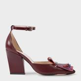 Paul Smith Women's Bordeaux Leather 'Perla' Shoes
