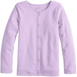 Girls 4-12 Jumping Beans Knit Cardigan