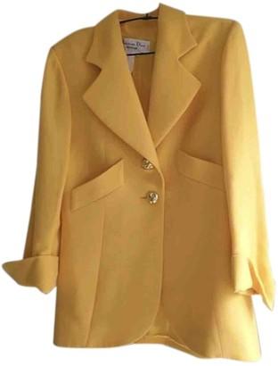 Christian Dior Yellow Cotton Jacket for Women Vintage