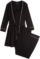 Cosabella Bella Pajama 3 Piece Set - Black/Ivory - Large