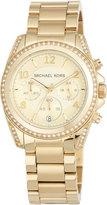 MICHAEL Michael Kors 39mm Mini Blair Glitz Chronograph Bracelet Watch, Gold