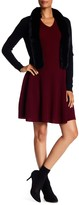Sofia Cashmere Cashmere V-Neck Fit & Flare Dress