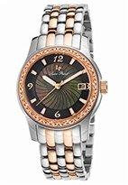 Lucien Piccard Women's 'Merrel' Quartz Stainless Steel Watch, Color:Two Tone (Model: LP-40029-SR-11-MOP)