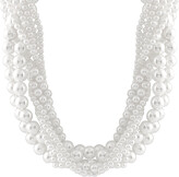 Splendid Pearls Silver 6-12Mm Shell Pearl Necklace