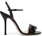 Gucci Dionysus Leather Sandals - Black