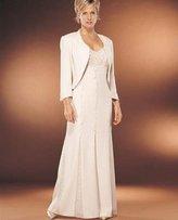 Daymor Couture - 707132 V Neck Long Sleeve Bolero Dress