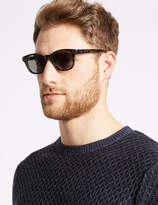 M&S Collection Polarised D Frame Sunglasses
