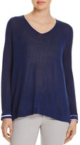 NYDJ Mixed Media Stripe Sweater