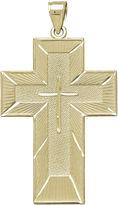 FINE JEWELRY Tesoro Mens 14K Yellow Gold The Lord's Prayer Cross Pendant