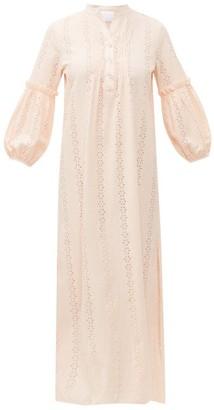 Love Binetti - High-neck Cut-out Cotton Tunic - Light Pink
