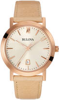 Bulova 38mm Men's Leather Watch