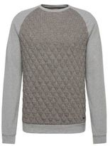 Hugo Boss Welsh Cotton Quilted Printed Sweatshirt M Grey