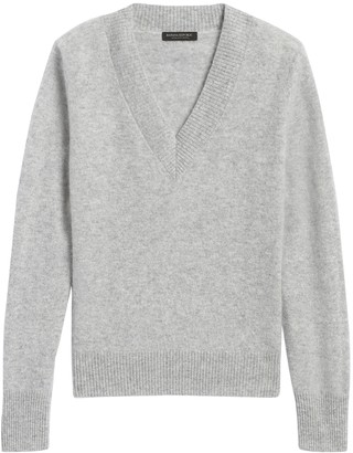 Banana Republic Brushed Cashmere V-Neck Sweater