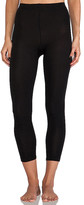Plush Footless Fleece Lined Tights in Black