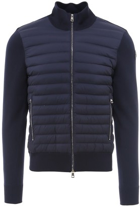 Moncler Down Panelled Knit Jacket