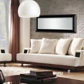 Asstd National Brand Satin Black Beveled Full Length Wall Mirror