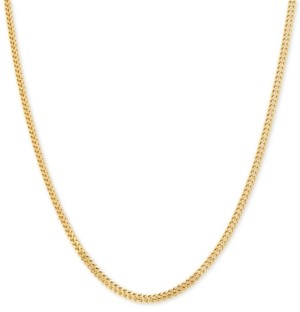 "Italian Gold Polished Interwoven Link 22"" Chain Necklace in 14k Gold"