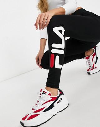 Fila logo leggings in black