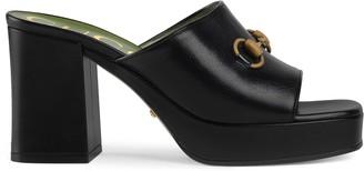 Gucci Mid-heel platform slide sandal
