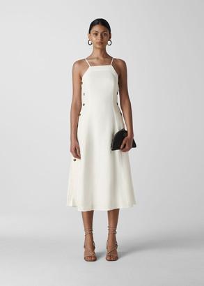 Nina Button Linen Dress
