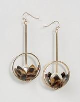 Asos Statement Flower Strand Earrings