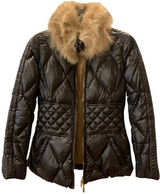 Moncler Hood Black Faux fur Coats