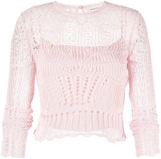 Alexander McQueen Crochet Long-Sleeve Top